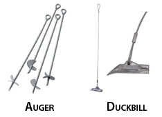 auger anchor and duckbill anchor