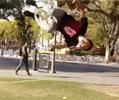 aerial flip dismount