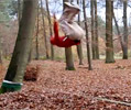 back flip landing on slackline