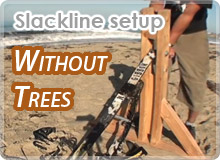 Slackline Setup without Trees