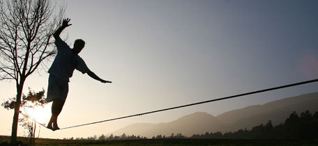 walking the mammut slackline